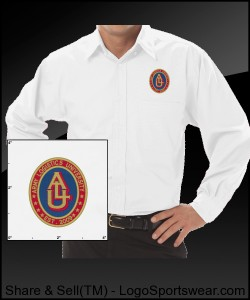Embroidered Design: Mens Long Sleeve Poplin Shirt Design Zoom